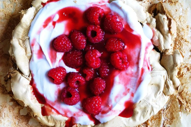 Pavlova with Whipped Coconut Cream
