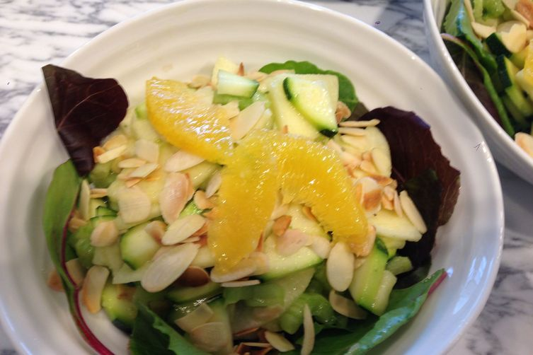 Green Apple, Raw Zucchini, Celery, Lemon Vinaigrette Salad
