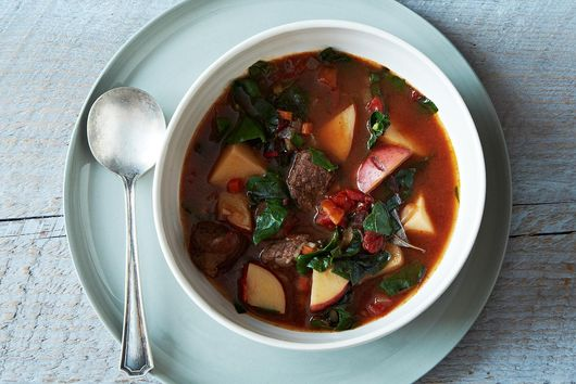 Beef Vegetable Soup Bourguignon