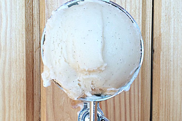 Vanilla bean soy ice cream
