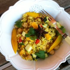 Mango Bulghar Salad with Mango Vinaigrette