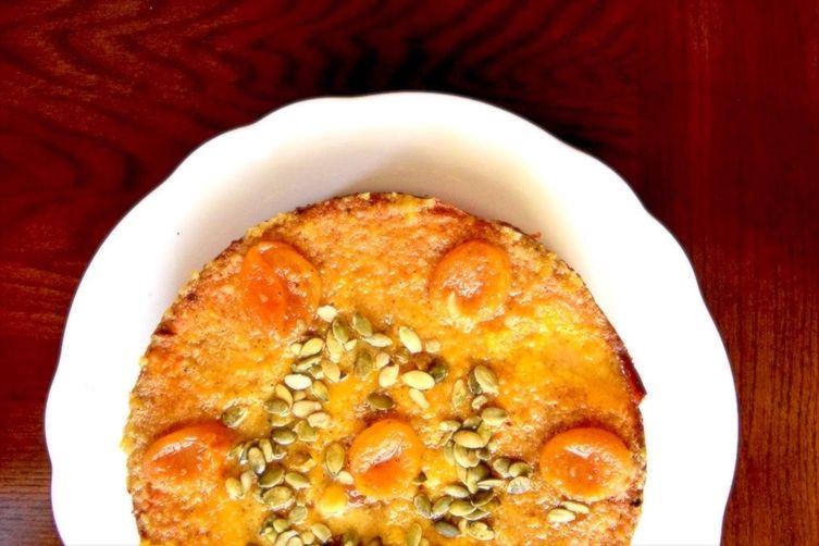 Almond Apricot Cardamom Cake