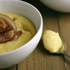 Creamy Parmesan Polenta with Maple Onions