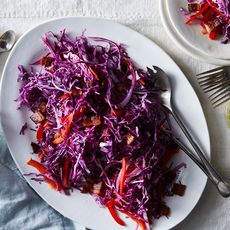 Red Slaw with Warm Bacon Dressing