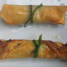 Salmon Maki Spring Rolls with Lemon Soy Wasabi Mayonnaise