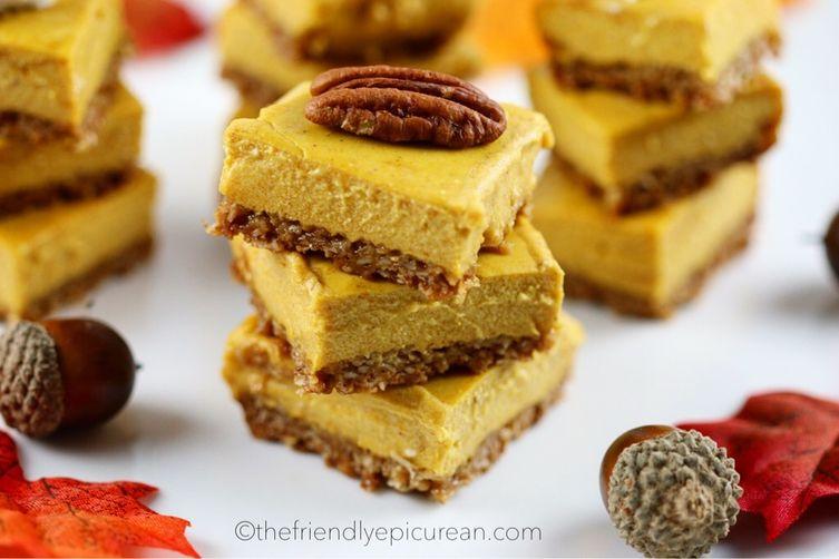 Mini Pumpkin Cheesecake Bars