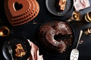 Mocha-Walnut Marbled Bundt Cake