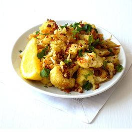 Lemony Roasted Cauliflower with Garlic & Oregano