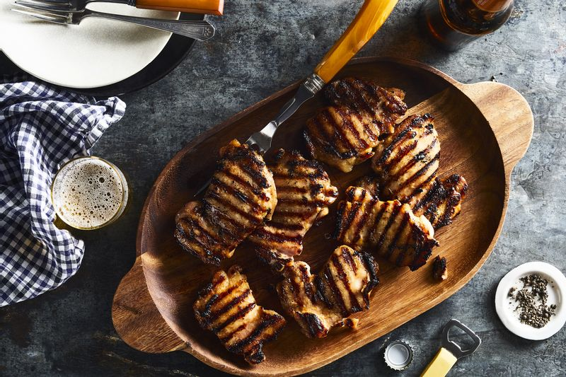 Hello there, grill marks! This recipe's secret ingredient makes these extra pretty.