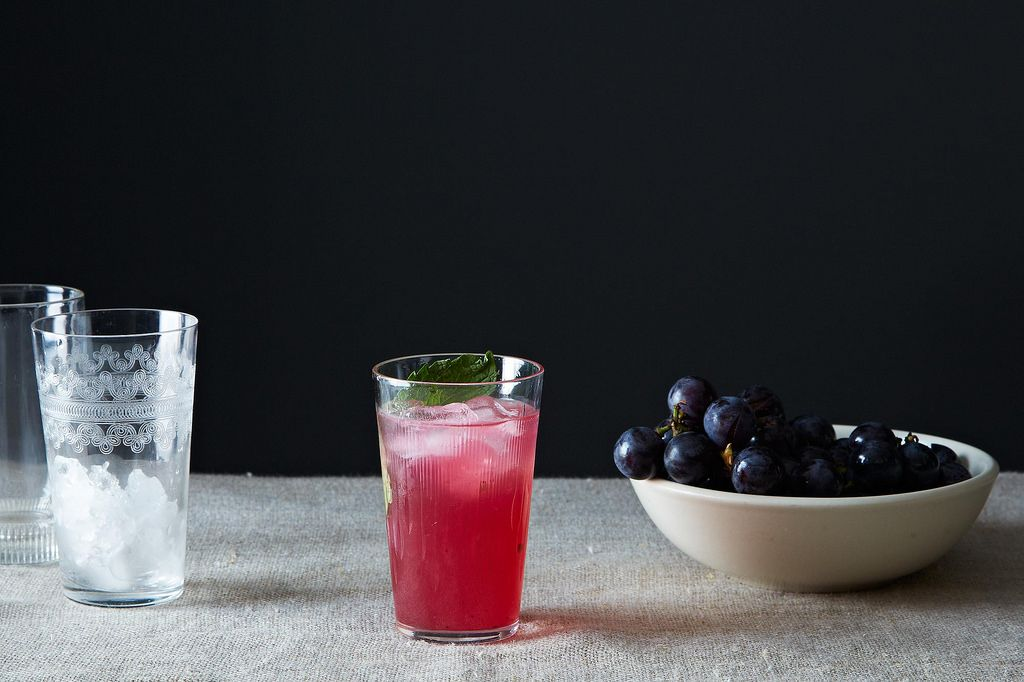 Concord Grape Smash Cocktail