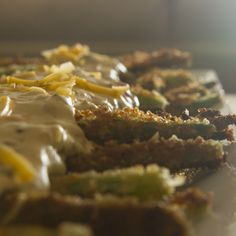 Green Bean Fries with Pimento Cheddar Sauce