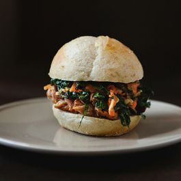 Chinese Pulled Pork Sandwiches with Kale and Apple Slaw