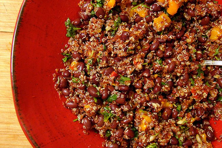 Spicy Black Bean and Quinoa Salad Recipe on Food52