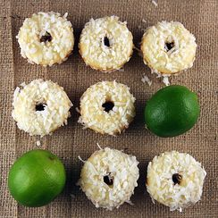 Coconut Lime Doughnuts