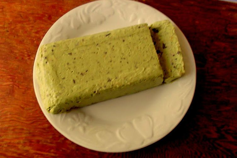 Mascarpone-Avocado Semifreddo with Chocolate and Hazelnuts