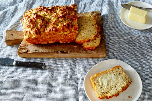 Garlic, Parmesan, and Herb Beer Bread