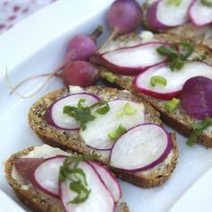 Radish Crostinis with Butter and Sea Salt