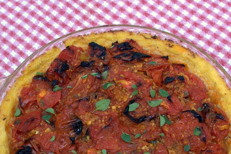 Roasted Tomato Polenta Pie
