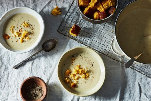 John Fleer's Buttermilk Cornbread Soup