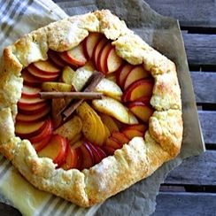 Spiced Maple Plum Galette