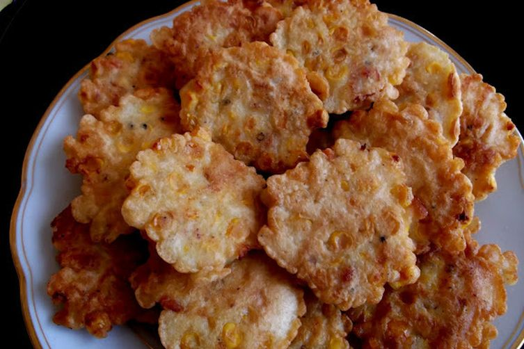 Fresh Corn and Crawfish Tail Meat Fritters