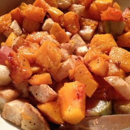 Roasted Vegetables:  Butternut Squash, Celery Root, and Radish