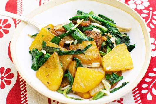 Golden Beets with Buttered Ramps