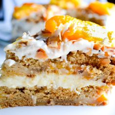 Brazilian USA Peach Cake