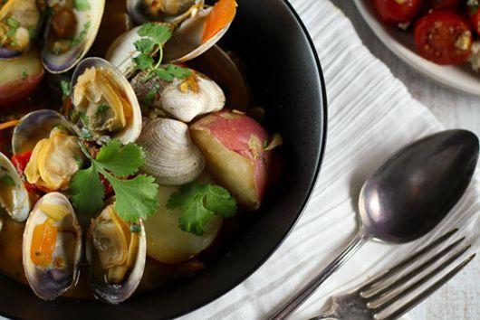 Chorizo and clams
