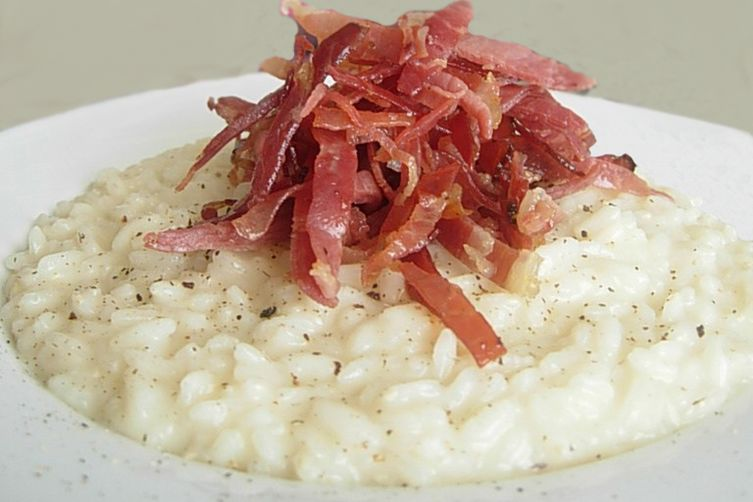 Robiola and Crispy Speck Risotto