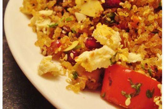 crunchy quinoa & veggie roaster