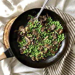 Marsala Mushrooms & Peas