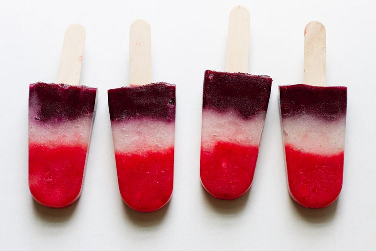 Homemade Berry Rocket Pops