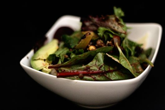 Mixed Green Salad with Homemade Dijon Balsamic Dressing