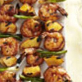 BARBECUED SHRIMP N PEACH KABOB