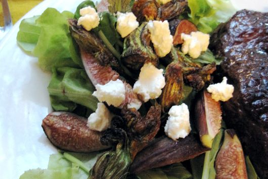 Fig & Squash Blossom Salad