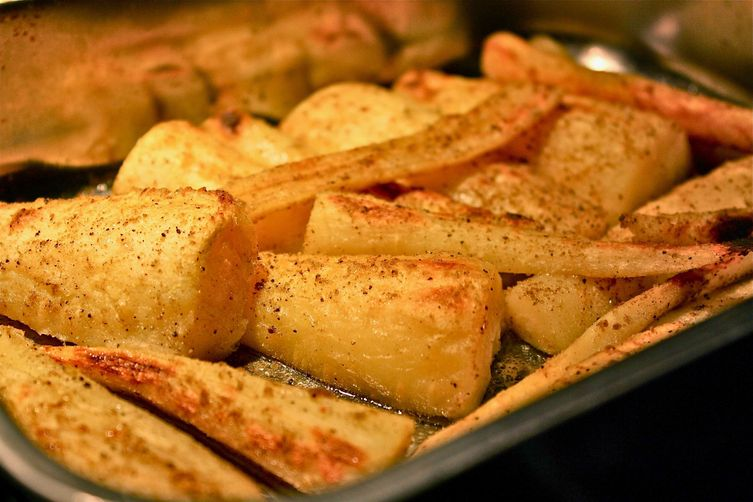 Roasted Parsnips with Cumin and Chestnut Honey