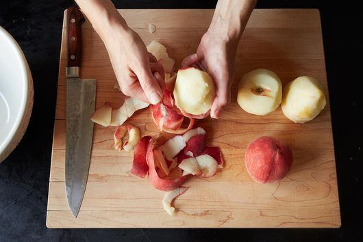 The Sweetest Way to Recycle Peach Peels