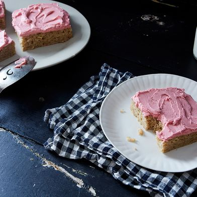 Parsnip Cake with Blood Orange Buttercream