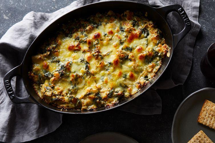 Extra-Cheesy Spinach-Artichoke Dip
