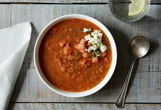 Watermelon Gazpacho with Feta and Mint