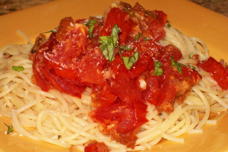 Spaghettini with Roasted Heirloom Tomatoes