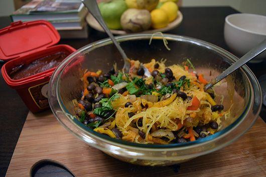 Spaghetti Squash Salad with Gochujang