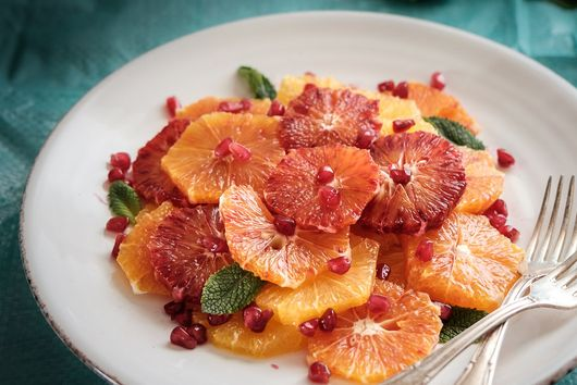 Moroccan Orange Salad with an Orange Blossom Syrup