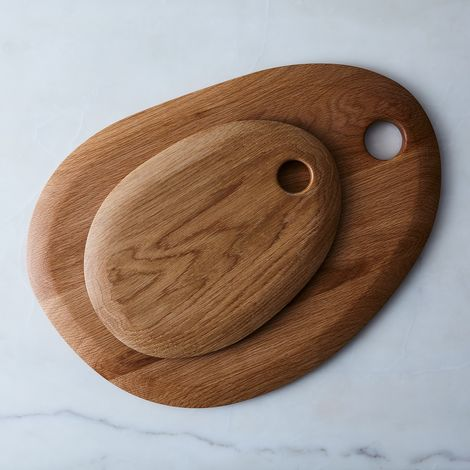 Simple Round Oak Cutting Board