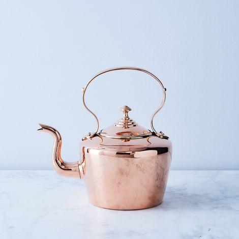 Vintage Copper English Tea Kettle, Late 19th Century