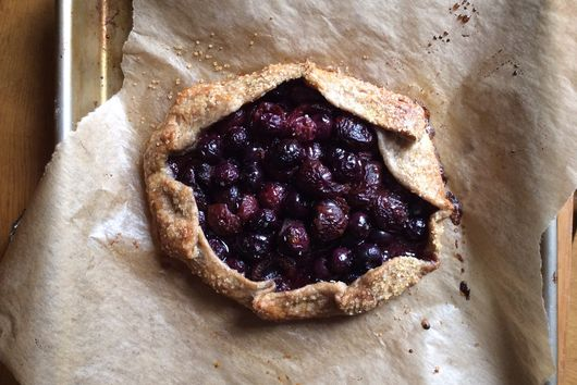 Cherry-Blueberry Rustic Rye Galette