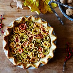 Salted Caramel Apple Rose Pie (Gluten-free)