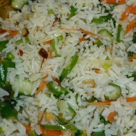 Spring Vegetable Rice Salad