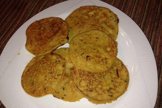 Acorn squash Indian pancakes